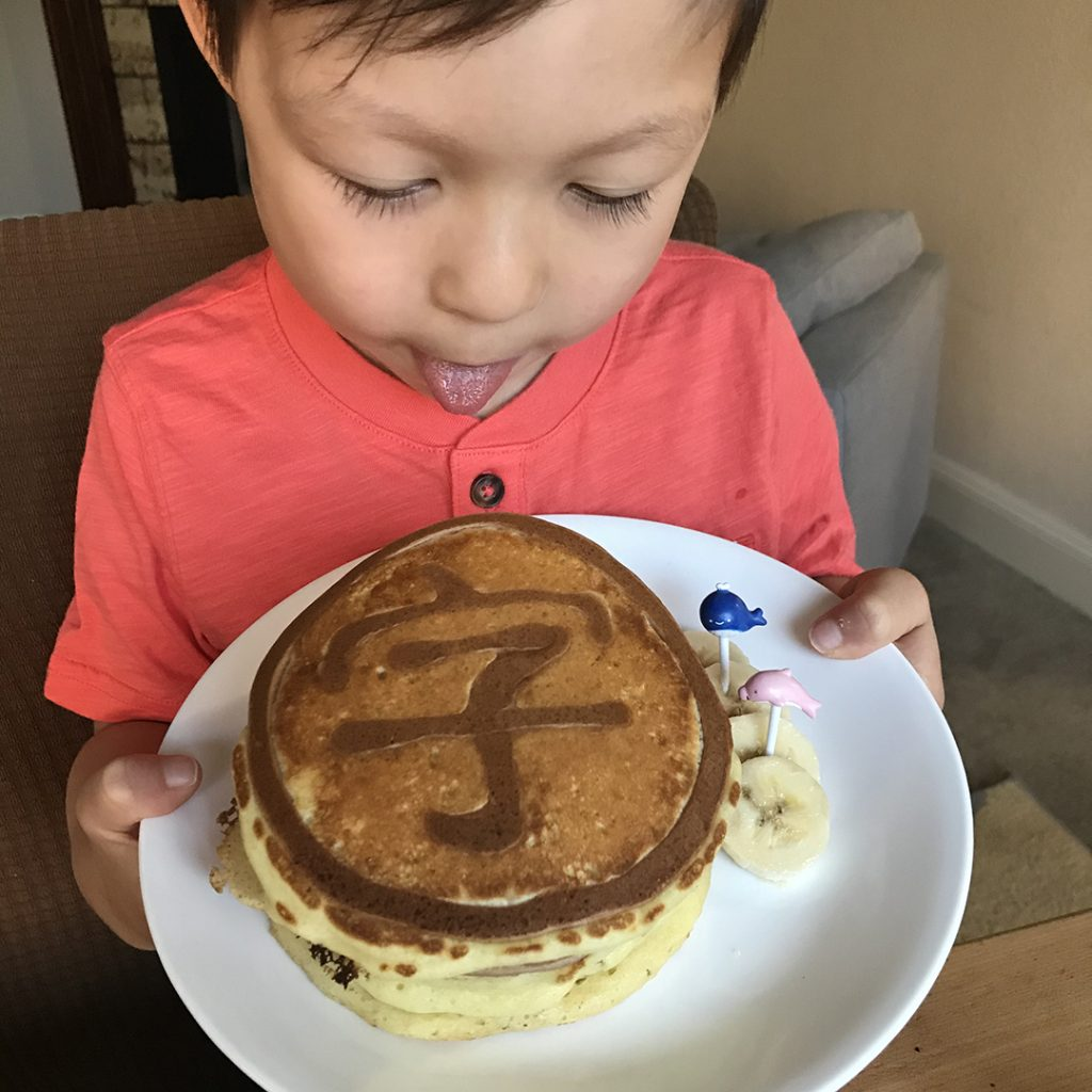 Chinese Character Pancakes Word