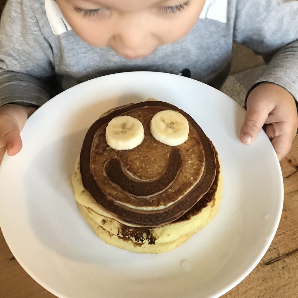 Chinese Character Pancakes smile