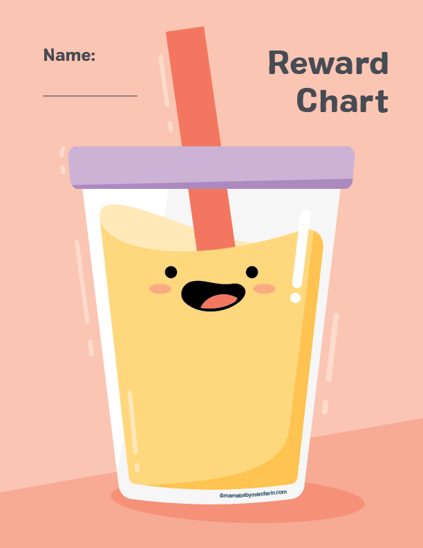 boba reward chart - classroom reward systems