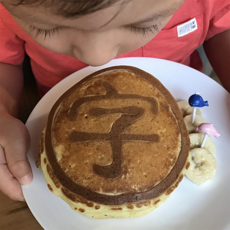 Chinese Character Pancakes and Recipe
