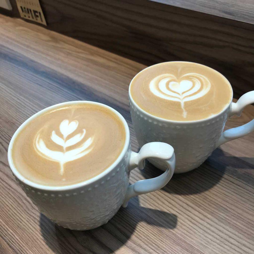 Fiery Coffee latte art