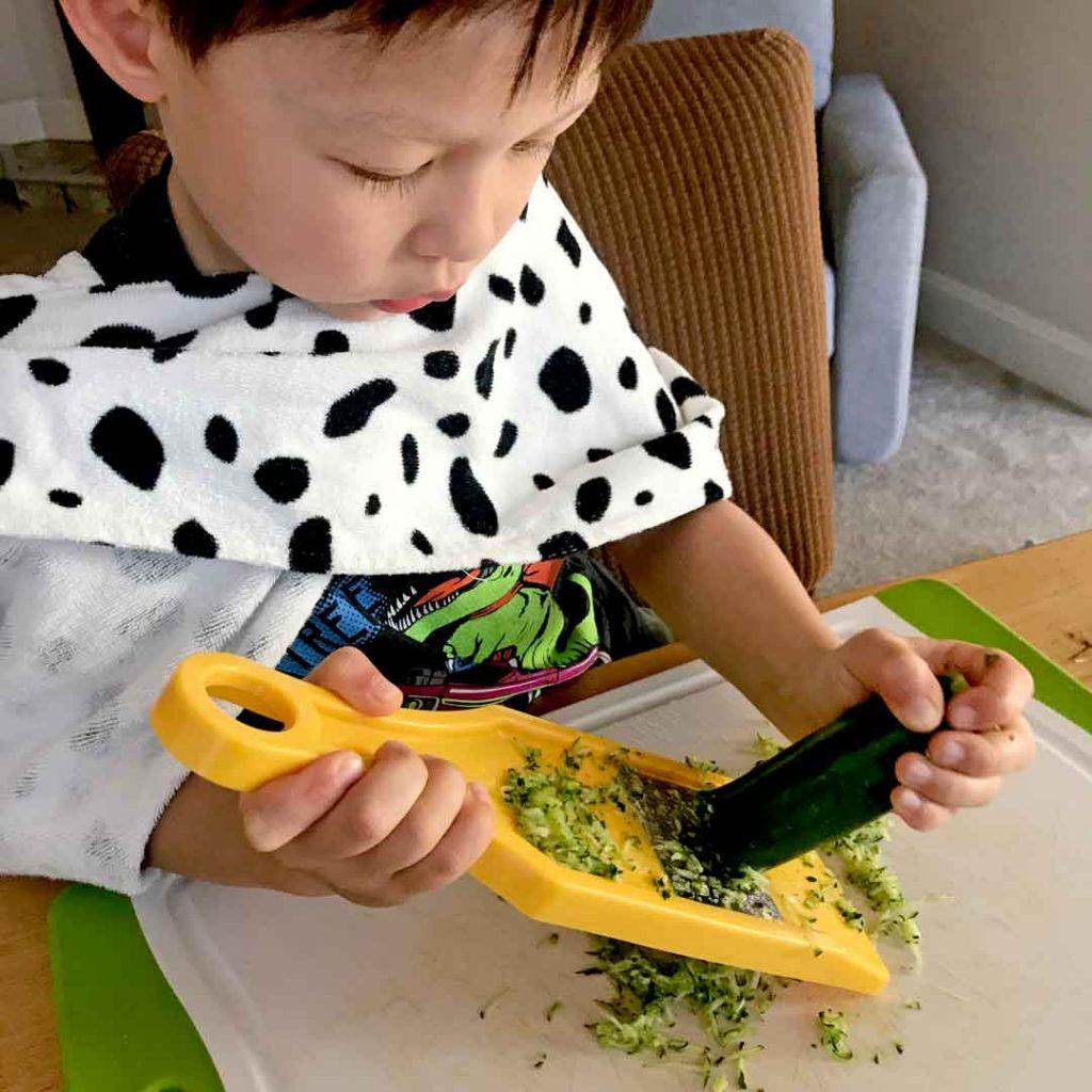grating zucchini