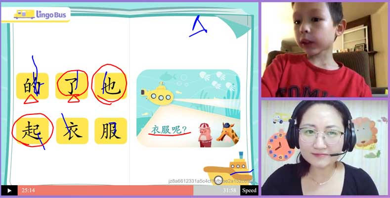 lingobus online chinese class chinese characters