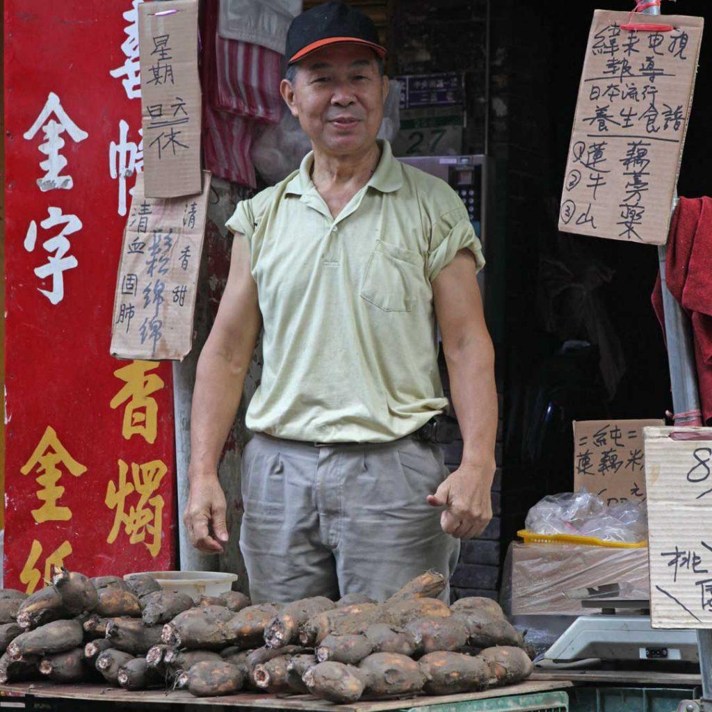Beitou market vendor
