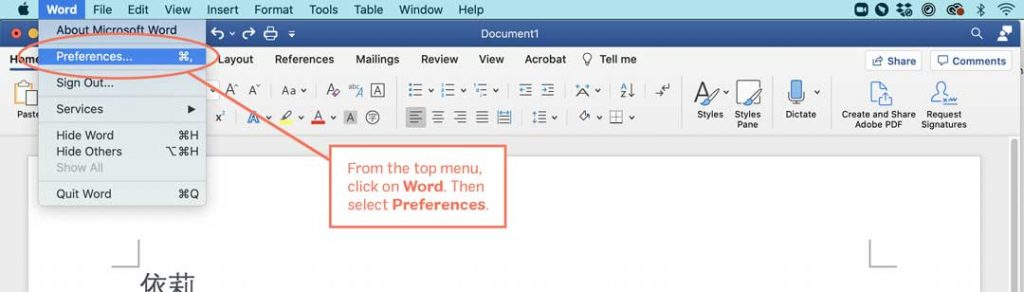 How to Add Pinyin in Microsoft Word, step 1